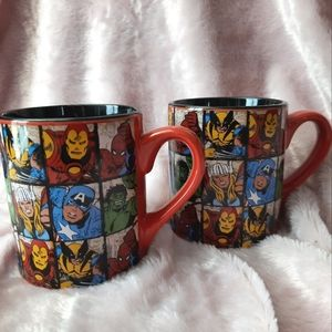 2 Marvel mugs super heroes- comics Ceramic